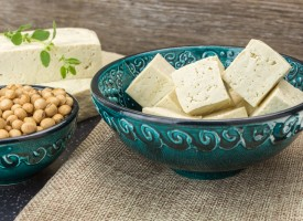 Tofu o queso de soja, alimento vegetal y fuente de proteínas