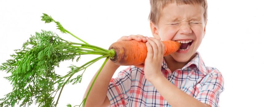 Niños vegetarianos y veganos, cada vez más frecuente