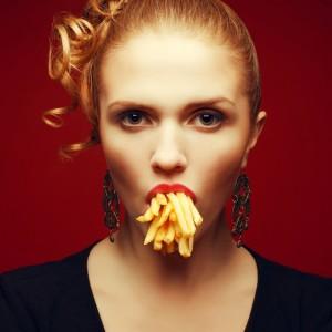 comida fritos patatas